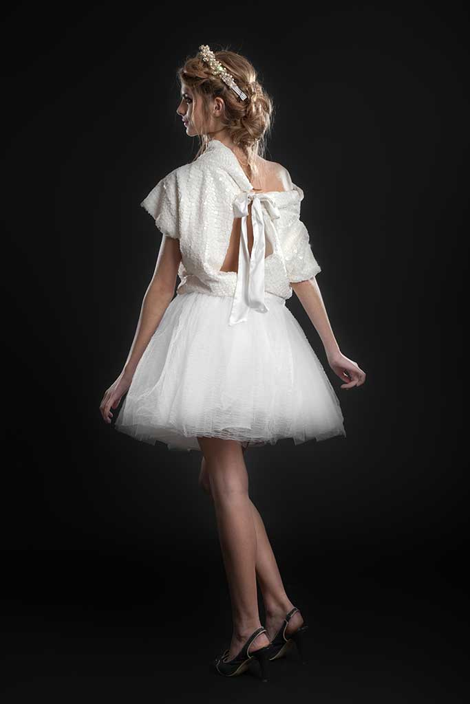 Ensemble de mariee court Swan